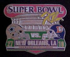 Dallas Cowboys vs Broncos Super Bowl 12 Final Score Series Pin Willabee & Ward