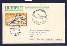 46694) KLM FF Amsterdam - Casablanca 5.11.60, Karte ab CSSR, EF Olympiade