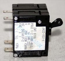 (17 Lot)  2 Pole  Mini Circuit Breaker  16A  250V Heinemann / Eaton JA2S-Y57-1