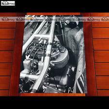 RICKMAN-TRIUMPH METISSE / Vue Gros plan sur moteur - Poster MOTO #PM1031