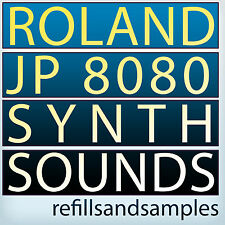Roland JP 8080 SOUNDS Reason NNXT Refill SOUNDFONTS sf2 SYNTH SAMPLES Wav DVD