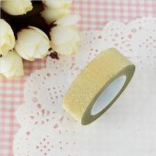 New 10m Glitter Washi Sticky Paper Masking Adhesive Tape DIY Craft Decorative