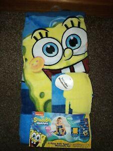 Nickelodeon SpongeBob Squarepants Childs 2 Piece Bath Towel + Washcloth Set NEW