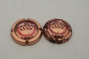 2  CAPSULES  JEROBOAM  AN  2000  ROSE  DU  CHAMPAGNE  GOSSET