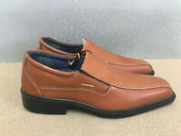 BNWT Mens Size 7 Albstadt Premium Brown Tan Leather slip on casual dress shoes