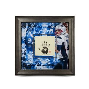 Tom Brady Autographed 36X36 Tegata Photo Framed Inscribed #/25 Patriots UDA