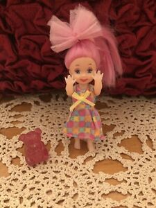 BARBIE DOLL LITTLE SISTER KELLY COLORFUL DRESS *FREE BEAR *FREE GIFT