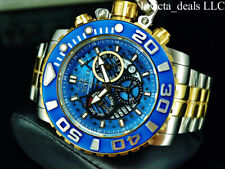Invicta Mens 70MM SEA HUNTER Gen II Swiss Chronograph Blue Dial Gold 2Tone Watch