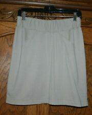 New listing Ibex Tan Khaki Beige 100% Merino Wool Skirt Elastic Waist Usa