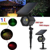 Solaire LED Laser Projecteur Lumière Eclairage Extérieur Noël Fête Déco IP65 R&G
