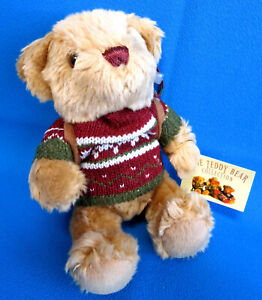 TEDDY BEAR COLLECTION 🐻 HENRY HIKER plush soft toy FAIRISLE JERSEY TOP rope axe