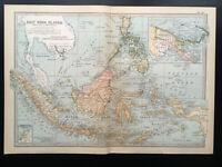Antique Map Of East India Islands Borneo Sumatra   1903