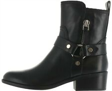 Marc Fisher Harness Side Zip Boots Dalary Black Leather 8.5M NEW A344505