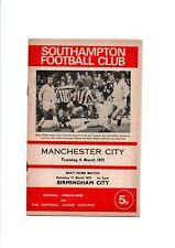 SOUTHAMPTON V MANCHESTER CITY TUES 6TH JAN 1973--5p  PROGRAMME *FREE UK SHIPPING