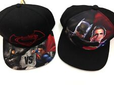 Batman Superman Snapback Hat Lot 2 New Adult Adjustable Black