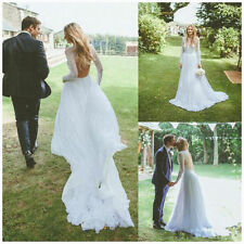 Tulle A-line Long Sleeve Wedding Dresses