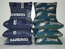 Set Of 8 Philadelphia Eagles/Dallas Cowboys Cornhole Bags *Free Shipping*
