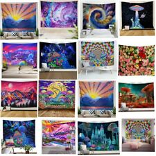 Hippie Trippy Tapestry Psychedelic Mushroom Wall Hanging Home Decor Wall Blanket