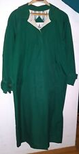 MISTY HARBOR Women's 10 Regular Dark Green Long Lined Raincoat GU