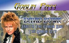Mr David Bowie Drivers License Goblin King Labyrinth fun for Halloween costume