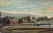 Great Barrington MA Town Hall RR Station Depot & Church c1910 Postcard