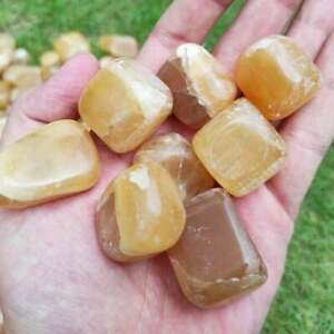 Amazing Honey Calcite Tumblers/Tumble stones from Afghanistan 700g