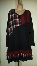 ■ Bnwt (£40) Size 26 Quirky Warm Red/Multi  Dress. Xmas/Winter. £18.99
