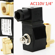 1/4'' NPT Normally Closed Electric Solenoid Valve Brass AC 110V-120V 0.2Amp New