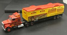 MAJORETTE 1/87 DIE-CAST RED MAGIC CIRCUS CONVENTIONAL SEMI TRACTOR WITH TRAILER
