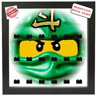 Magnetische Vitrine Motiv Ninjago für Lego Minifiguren Rahmen schwarz