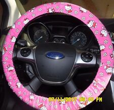 NEW STEERING WHEEL COVER HELLO KITTY PINK WHITE PINK BLACK RED CUTE