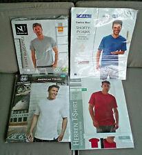 XXL Supersparpaket T-Shirt weiß rot grau mit Shorty Pyjama royalblau mit Hose