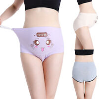 Women's Cartoon Soft Cotton Pregnant High Waist Briefs Underwear Maternity Pants