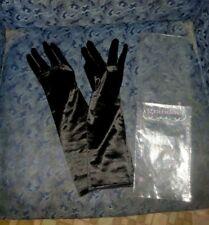 Lovely Rare Grandoe Whisper Weights 1980'S Black Evening Gloves-Sz 7-Nwot