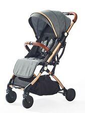 Dark Grey Stroller for Kids Lightweight Buggy Easy Fold Travel Stroller Buggy