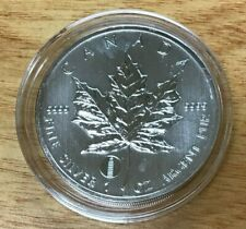 2012 $5 Canada Maple Leaf Leaning Tower of Pisa Privy 1oz .9999 Fine Silver Coin