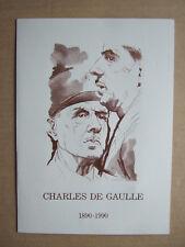ENCART LUXE PREMIER JOUR N°té 7245. CHARLES DE GAULLE 1890 1990 SAINSON FORGET