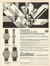 Publicité Advertising 1967  Montre Zodiac