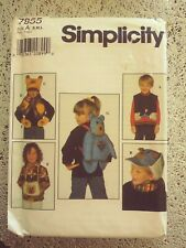 Simplicity  7855 Child's Accessories  Sewing Pattern