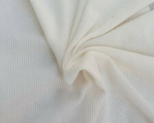 Modal Cotton Thermal Knit Fabric by Yard Waffle Weave Pre Washed Ivory PFD 7/17