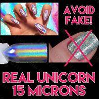 15 Microns Holographic Powder Unicorn Ultra Fine Chrome Rainbow Pigment Nails UK