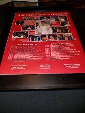Aretha Franklin Original 2011 Tour Promo Poster Ad Framed!