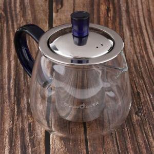 Modren Edelstahl & Glas Teekanne Lose Tea Leaf Infuser Teekanne 400ml