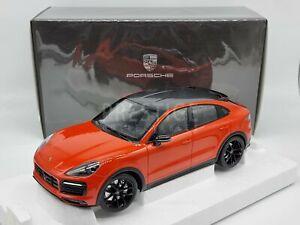 Norev Genuine 2019 Porsche Cayenne S Coupe Lava Orange 1:18 Scale - New