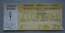 Placebo Elbow Brisbane Convention Centre 21 Mar 2004 Concert Ticket