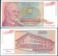YUGOSLAVIA  500 000 000 000 Dinara 1993 aUNC   P137    500 Billion Dinara
