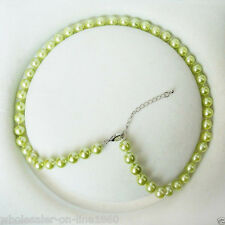 """New Fashion 8mm Genuine Green South Sea Shell Pearl Necklace 18"""" AAA+"""