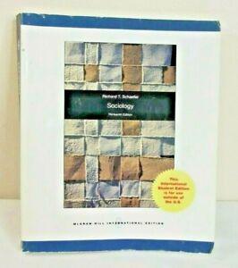 Sociology 13th Edition International Edition Softcover Textbook Richard Schaefer