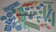 40 pcs Henna Mehndi Ink Rubber Reusable Stencil for Body Art paint