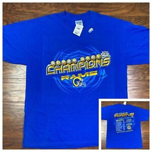 Vintage 2000 St Louis Rams Super Bowl XXIV Champions Shirt Large Los Angeles W2